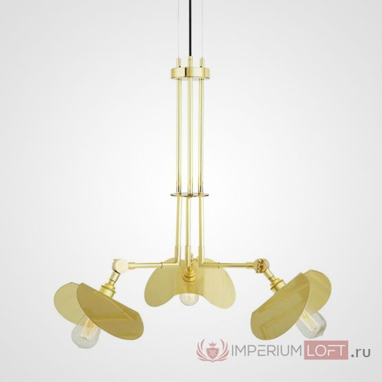 Подвесная люстра Emioni Chandelier Polished Brass by Mullan Lighting