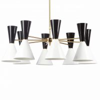 Люстра CAIRO Chandelier 8 Arm black and white