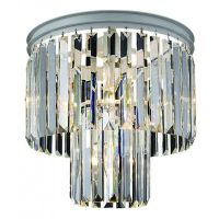 Потолочный светильник RH Odeon Clear Glass ceiling chandelier 2 Square