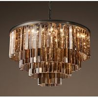 Люстра RH 1920s Odeon Smoke Glass Fringe Chandelier -60