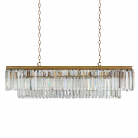 Люстра RH 1920s Odeon Clear Gold Square Chandelier