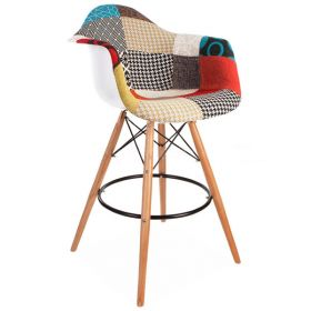 Барный Стул Eames Patchwork bar style DSW designed by Charles and Ray Eames