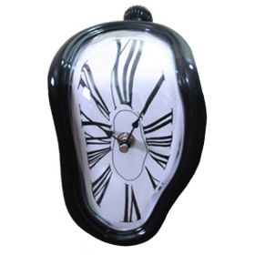 Часы Salvador Dali Soft Clock black