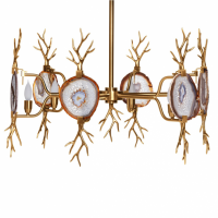 Люстра Branch Agate Chandelier Brass emporium home