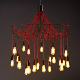 Люстра Blood Wire Chandelier Red 21