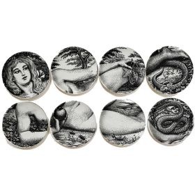"Тарелки FORNASETTI SET OF 8 ""EVA"""