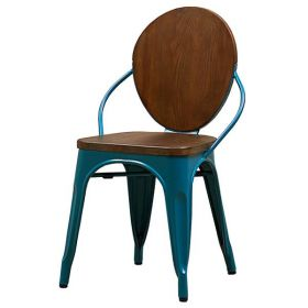 Стул Tolix chair Wooden Turquoise
