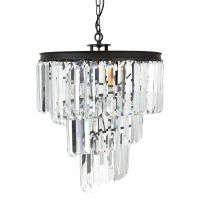 Люстра RH 1920s Odeon Clear Glass Spiral Chandelier - 3 rings