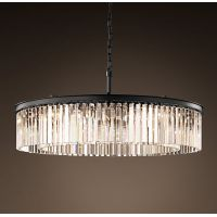 Люстра RH Rhys Clear Glass Prism Round Chandelier 80
