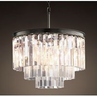 Люстра RH 1920s Odeon Clear Glass Fringe Chandelier - 3 rings