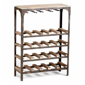 Стеллаж Industrial Metal Rust Console Wine Rack