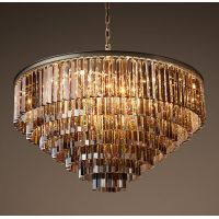 Люстра RH 1920s Odeon Smoke Glass Fringe Chandelier -80, 100