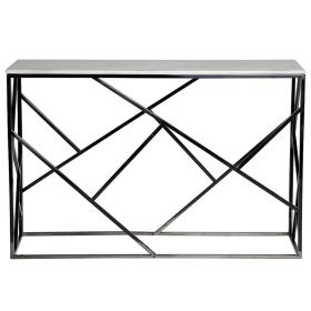 Консоль Serene Furnishing Dark Chrome Marble Top Console