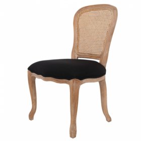 Стул French chairs Provence Neman Black Rattan Chair