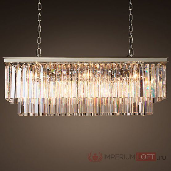 Люстра RH 1920S ODEON CLEAR GLASS FRINGE 120 nickel от ImperiumLOFT