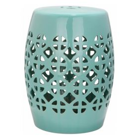 Керамический табурет Geometric Circles Garden Stool - Light Blue