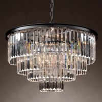 Люстра RH 1920s Odeon Clear Glass Fringe Chandelier -60