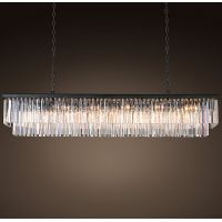 Люстра RH 1920s Odeon Clear Glass Fringe Grey iron 150