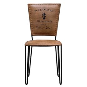 Стул Leather chair vintage No 19