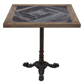 Стол для ресторана Cast iron and Wood restaurant table square