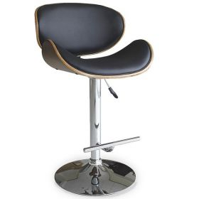 Барный стул Eames Lounge Bar Stool черный designed by Charles and Ray Eames