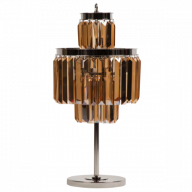 Настольная лампа 1920S Odeon Cognac Glass Table Lamp Three-Level