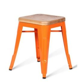 Кухонный стул Tolix Wood Seat Stool designed by Xavier Pauchard		 in 1934