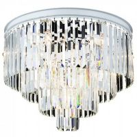 Потолочный светильник RH Odeon Clear Glass ceiling chandelier 4 Square