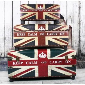 Сундук Union Jack Leather Keep calm and...
