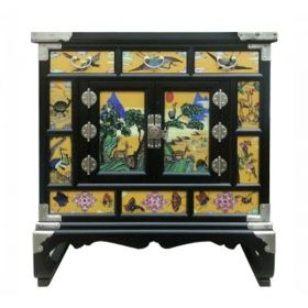 Китайский комод Chinoiserie chest of drawers yellow