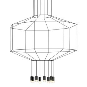 Vibia Wireflow 0299 Octagonal Square Pendan Light