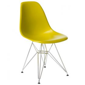 Стул Eames DSR Желтый designed by Charles and Ray Eames		 in 1948