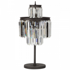 Настольная лампа 1920S Odeon Clean Glass Table Lamp Three-Level