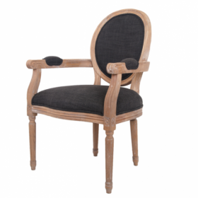 Стул French chairs Provence Black ArmChair