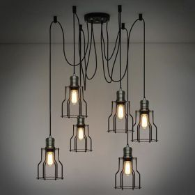 Люстра Loft Industrial 6 wire Cage Filament Pendant