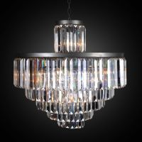 Люстра RH 1920s Odeon Clear Glass Fringe Chandelier - 6 rings