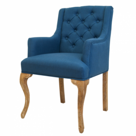 Стул French chairs Provence Amelia Blue ArmChair