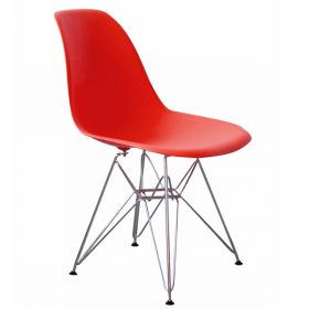Стул Eames DSR Красный designed by Charles and Ray Eames		 in 1948