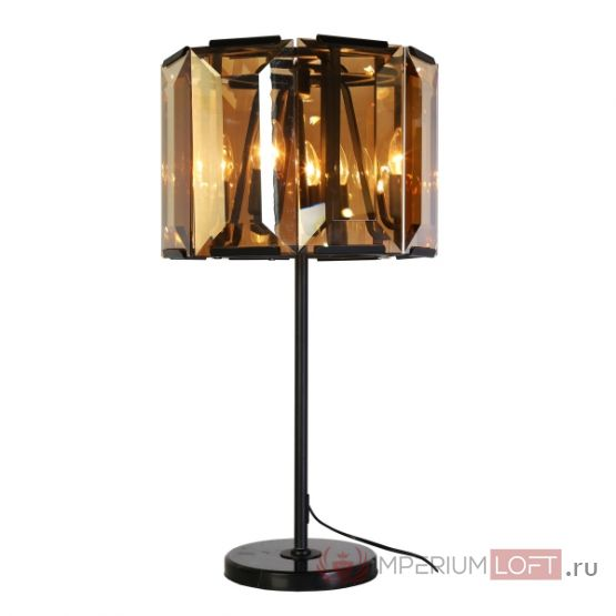 Настольная лампа Harlow Crystal Round Table Amber от ImperiumLOFT
