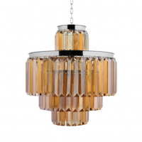 Люстра RH 1920s Odeon Smoke Chandelier 50/4