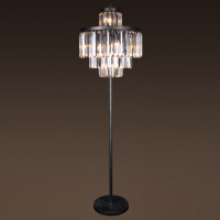 Торшер RH 1920S Odeon Clear Glass Floor Lamp 4 rings