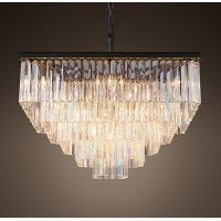 Люстра RH 1920s Odeon Clear Glass Fringe Chandelier - 5 square