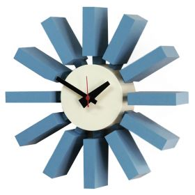 Часы George Nelson Block Clock Blue