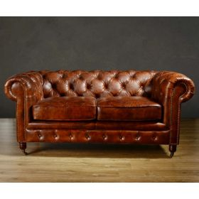 Диван Chesterfield Rebel Sofa Leather Brown 170