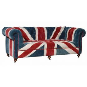 William Sofa Union Jack Velvet Andrew Martin designed by Martin Waller