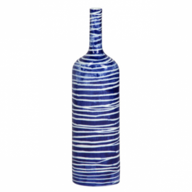 Ваза blue & white ornament Striped Bottle