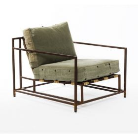 Кресло Inheritance Armchair Olive Military Fabric designed by Stephen Kenn and Simon Miller