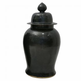 Ваза Black Ceramic Chinese Jars with Lids