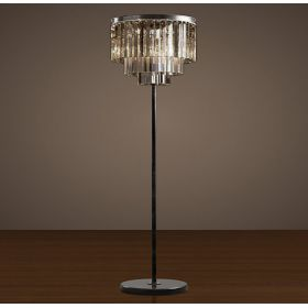 Торшер RH 1920S ODEON Clear Glass Flor Lamp SMOKE