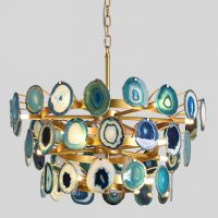 Люстра Agate Burst Chandelier 3 Round blue